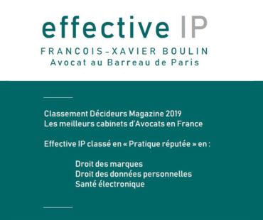 Effective IP reconnu pour sa pratique par Décideurs Magazine